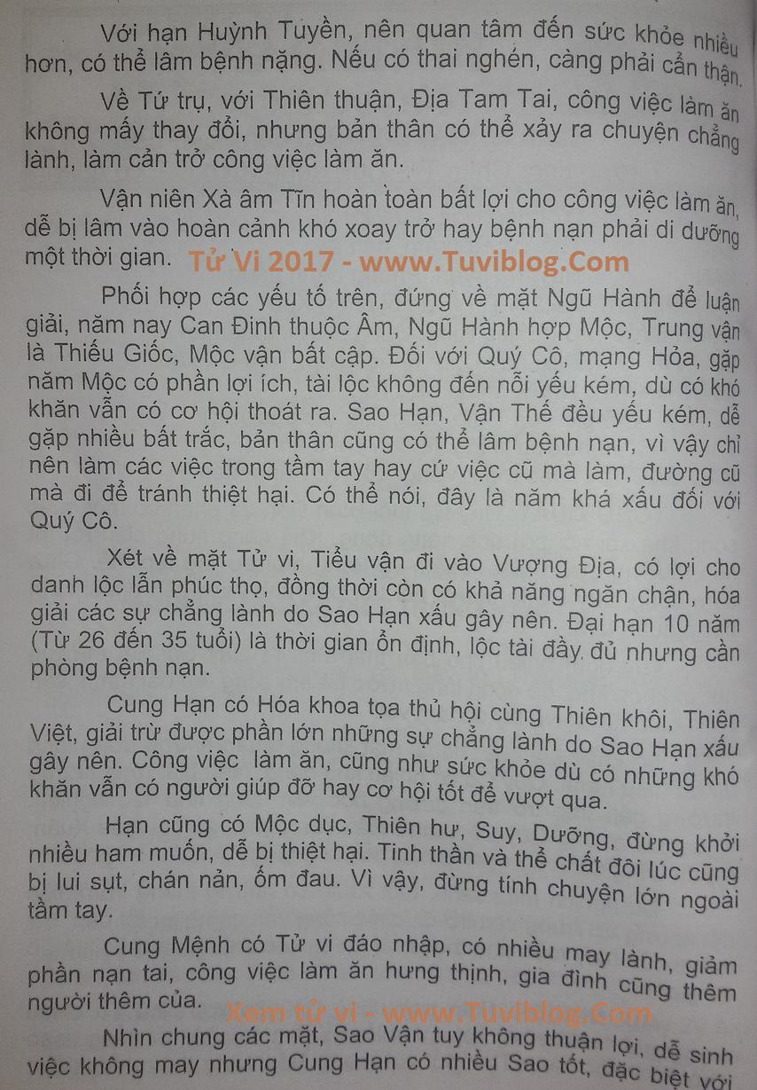 Tuoi Binh Dan 1986 nam 2017