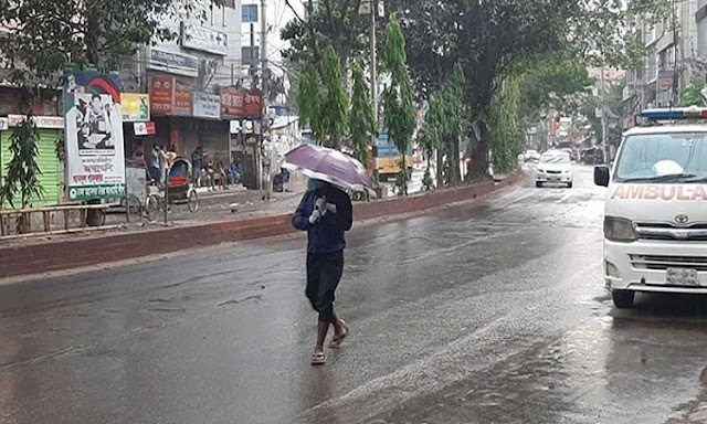 It is hot in Dhaka, relief in the rain