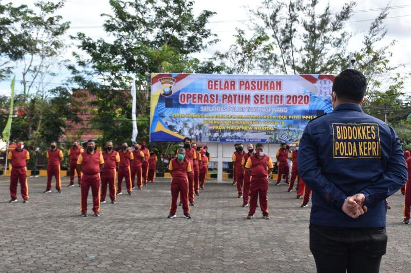 Seluruh Personel Polres Tanjungpinang Terima Arahan dan Sosialisasi dari Boddokkes Polda Kepri