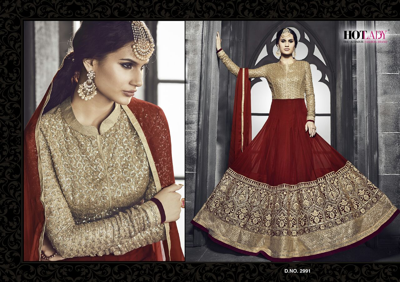 SAFEENA – 3-Latest fashion Heavy Traditonal Georgette Anarkali Salwar Suit