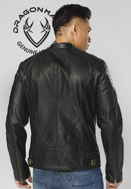 áo khoác da thật nam