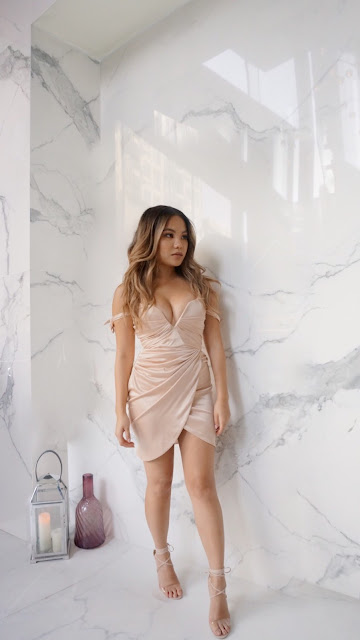 Play with Wire Satin Dress