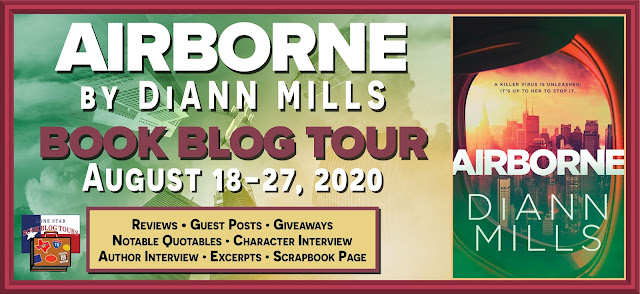 Airborne book blog tour promotion banner