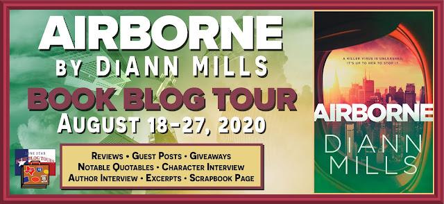 Airborne book blog tour promotion banner
