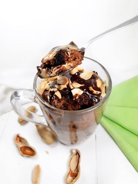 MUGCAKE CHOCO CACAHUETES- sans gluten - sans lactose - vegan