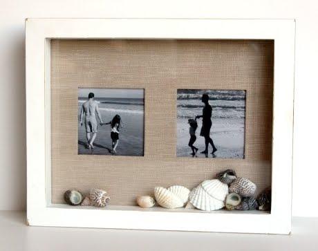 beach vacation photo shadow box frame