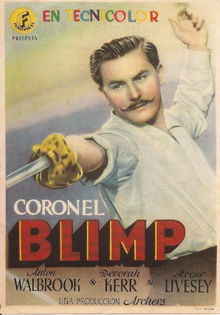 Programa de Cine - Coronel Blimp - Anton Walbrook - Deborah Kerr