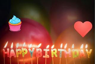 birthday cake with photo frame