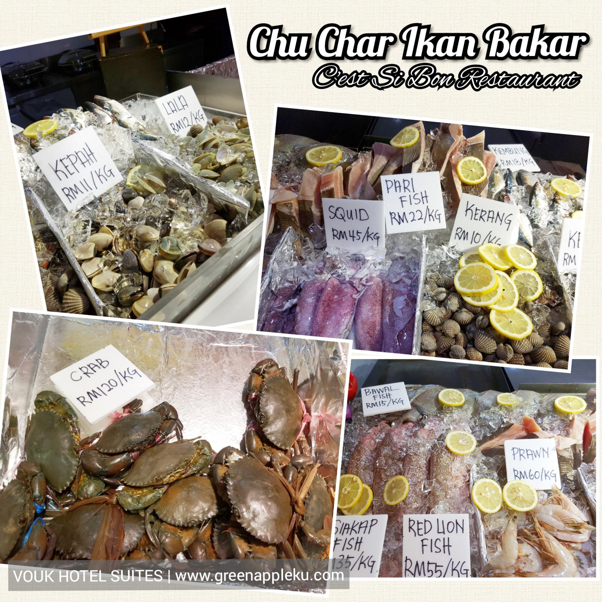 Ikan Bakar Dinner di Vouk Hotel Suites, Penang