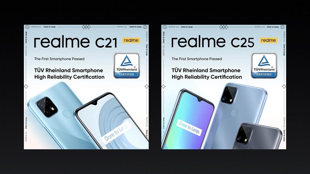realme C21 and realme C25