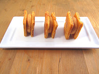 Corte de hojaldre con mousse de foie y boniato
