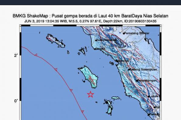 Gempa 5,2 Magnitudo di Nias Akibat Aktivitas Tektonik