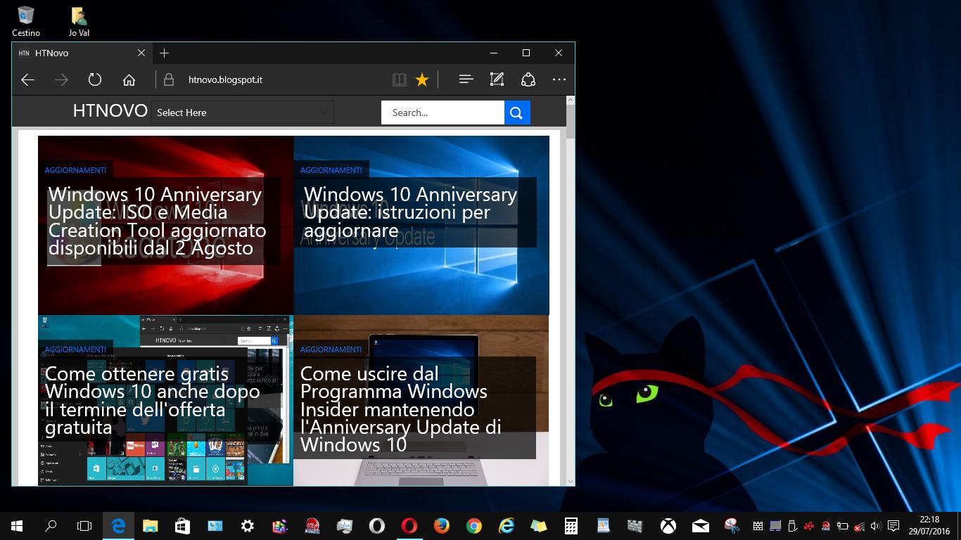 Scarica lo sfondo NinjaCat celebrativo di Windows 10 Anniversary HTNovo