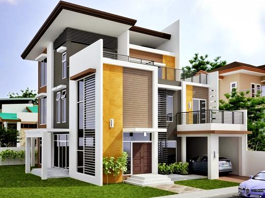 Contoh Gambar Rumah Minimalis Modern 2 Lantai di Komplek Perumahan