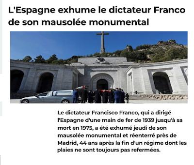 https://www.linternaute.com/actualite/depeches/2207874-espagne-la-justice-suspend-l-exhumation-de-franco/?een=e87795cdd2e8e4040d2e502429cc3570&utm_source=greenarrow&utm_medium=mail&utm_campaign=ml287_lenferdesinter&fbclid=IwAR25onxTrIUCarijPZzMdVgKcZZ4R09-Xy1eRX-v6v9yjyiiyVv3iatVVEY
