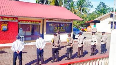Kapolsek Pammana Himbau Anggotanya Pantau Kamtibnas Ditengah Wabah Covid-19