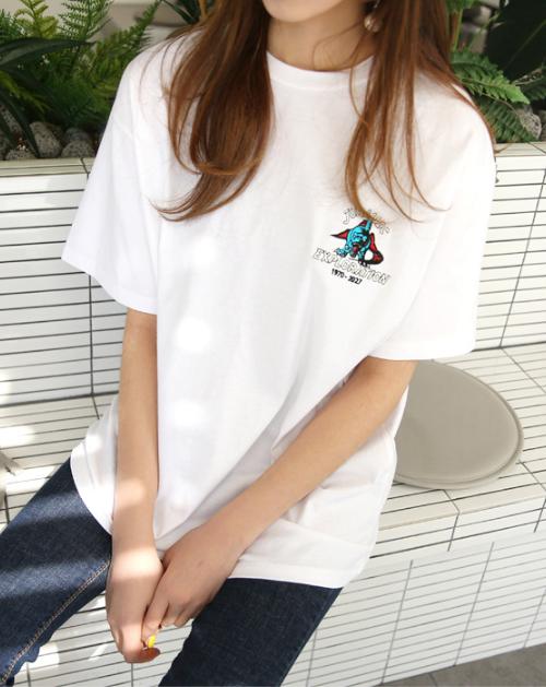 Dinosaur Embroidery T-Shirt