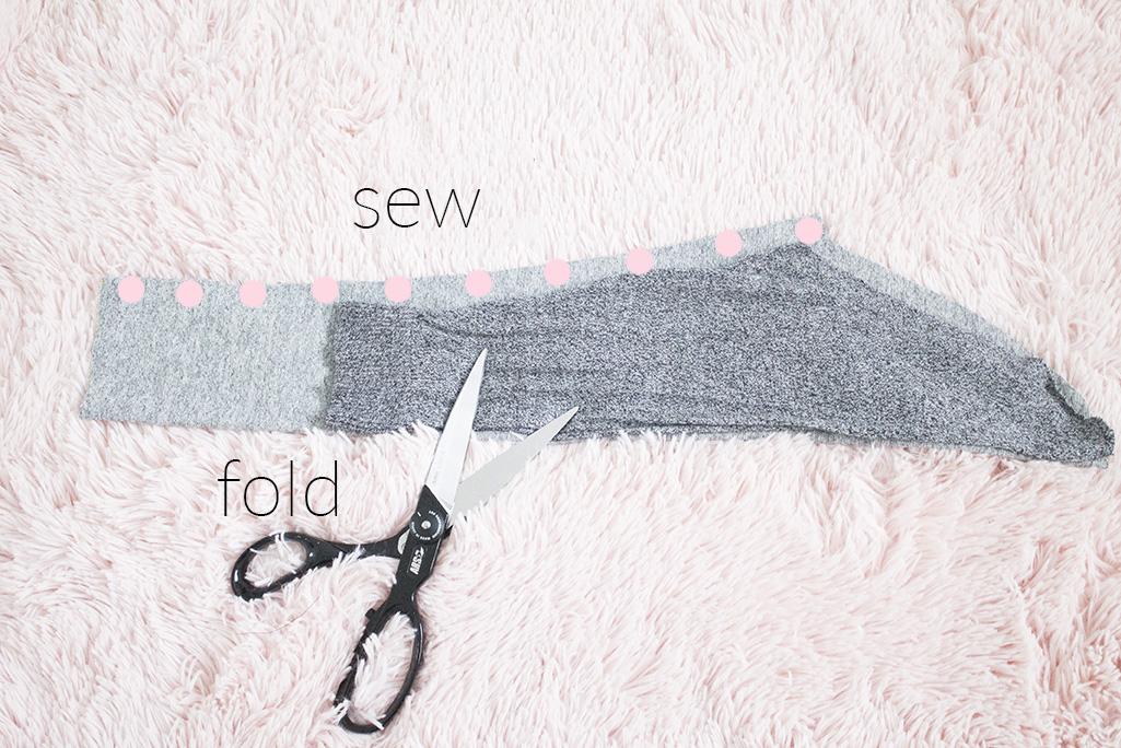 ruffle shoulder refashion cut new sleeve