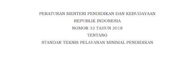 Permendikbud No. 32 Tahun 2018