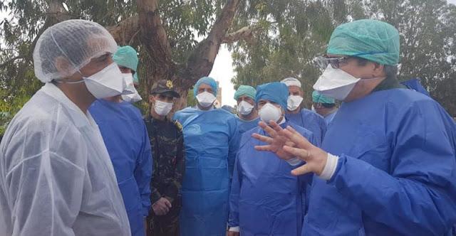 والي ولاية جهة سوس ماسة يزور مستشفى الحسن الثاني بأكادير