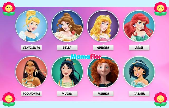 Como se llaman las Princesas Disney