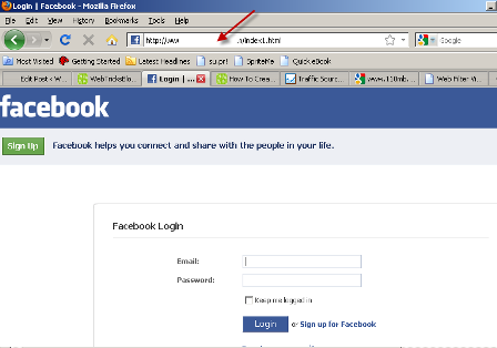 How To Create A Facebook Fake Login Page-Fake Login Script