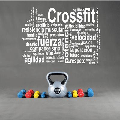 vinilo decorativo crossfit, fitness,gimnasio,atleta,gym
