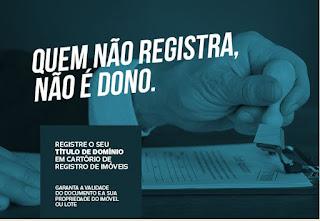 Título de domínio deve ser registrado em cartório para ter validade