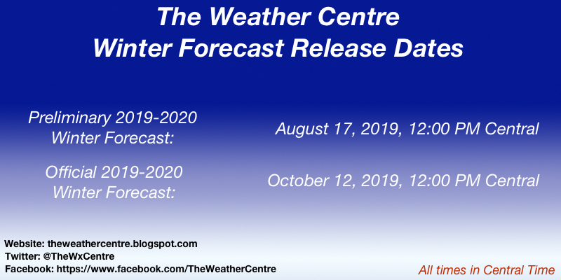 Official Start Of Fall 2020.The Weather Centre 2019 2020 Winter Forecast Release Dates