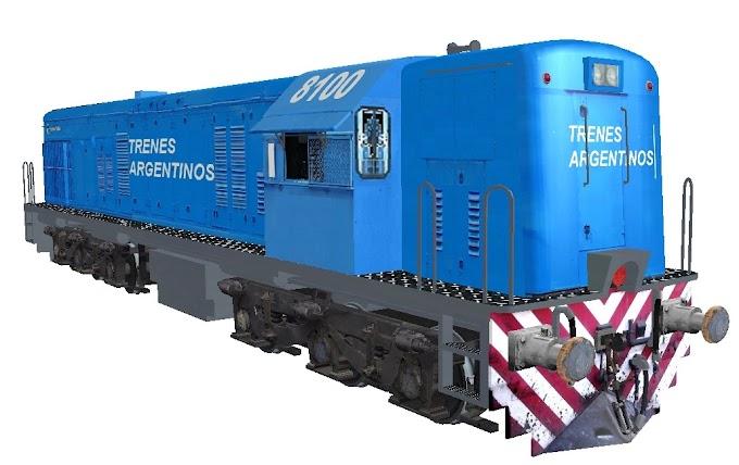 GE U18C 8100 - Trenes Argentinos