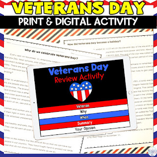 veterans day activities for grades 4 5 6 to learn about armistice day and veterans