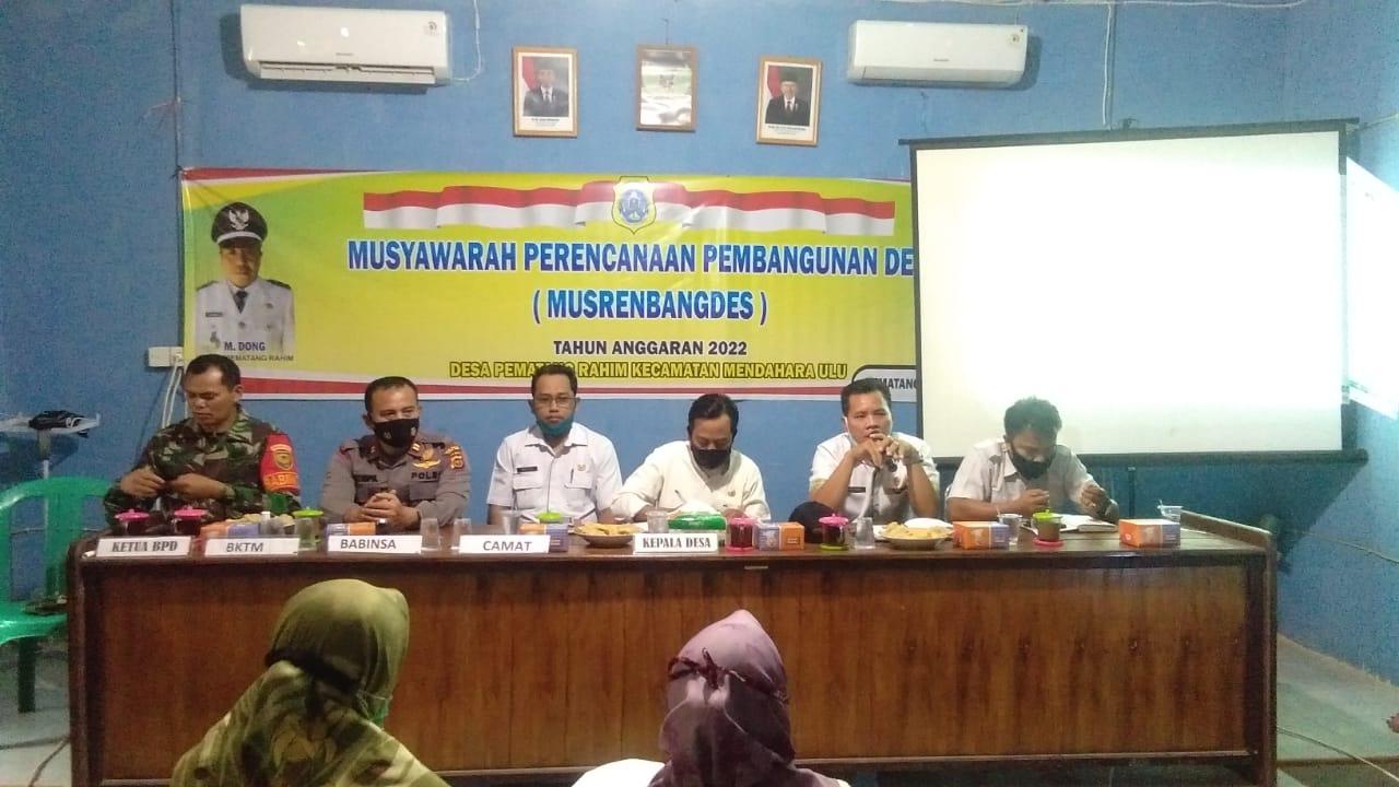 Musrenbangdes Pematang Rahim, M. Dong Berharap Pembangunan Desa Semakin Maju
