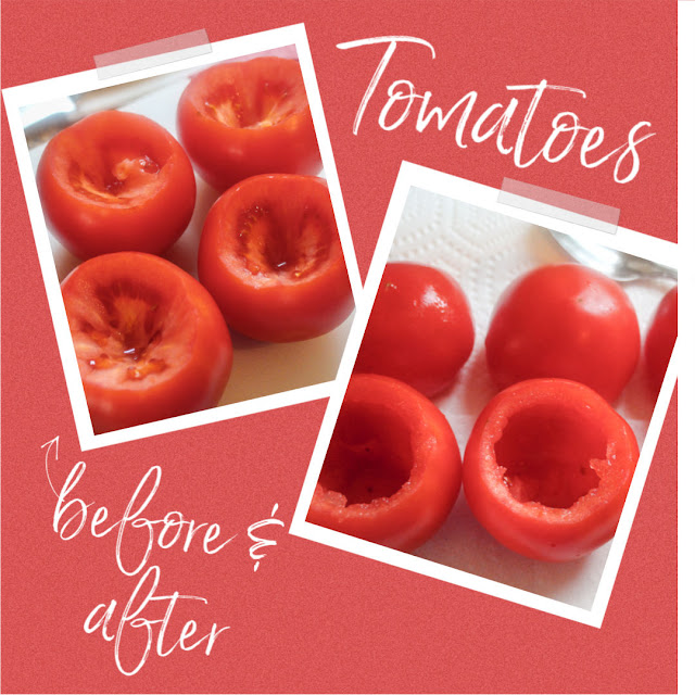 Air Fryer Stuffed Tomatoes