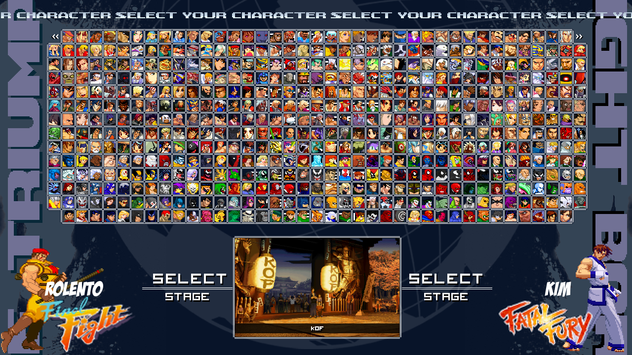 Mugen 300 chars with screenpack screenpack already installed