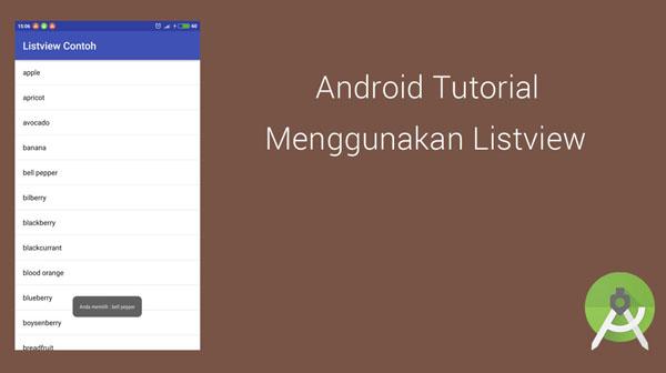 Tutorial Dasar Cara Menggunakan ListView Pada Android Studio