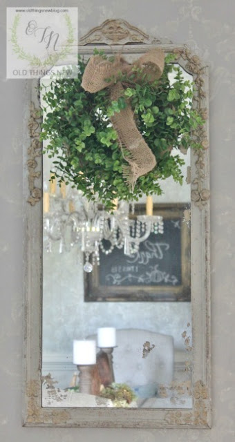 Old Things New-Antique Mirror-From My Front Porch To Yours-Treasure Hunt Thursday