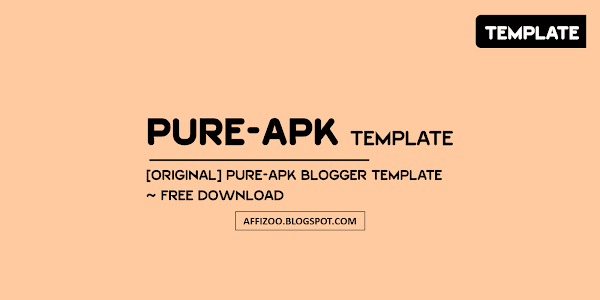 PureApk Premium Blogger Template [Play Store Template] ~ Free Download