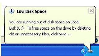 Mengatasi memory disc C selalu penuh