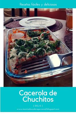 receta facil de cacerola de chuchitos de guatemala. Fácil y nutritiva.