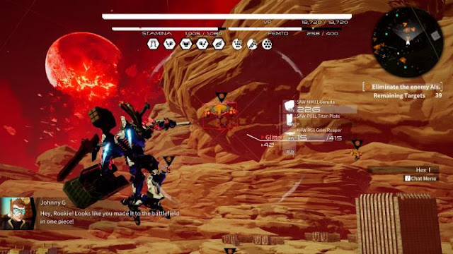 Daemon X Machina tells the story of the Earth, on which a giant fragment of the moon fell.