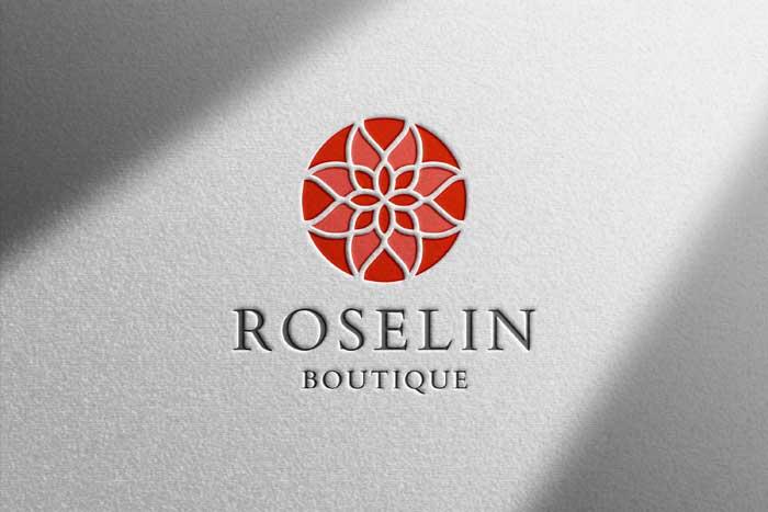 Realistic White Paper Logo Mockup