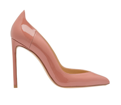 Francesco Russo Pink Patent Leather Pumps