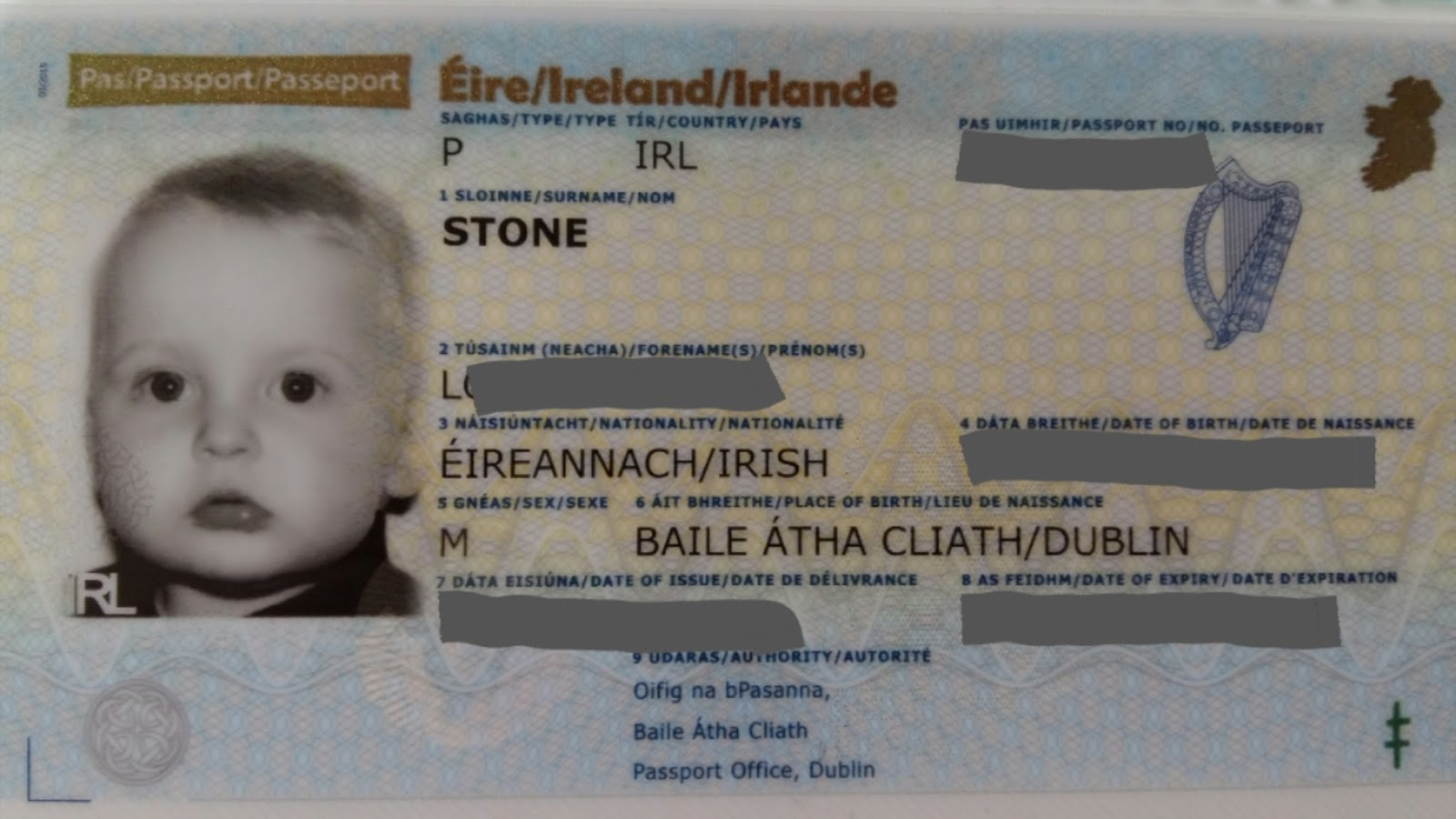 How to change surname in irish passport after marriage