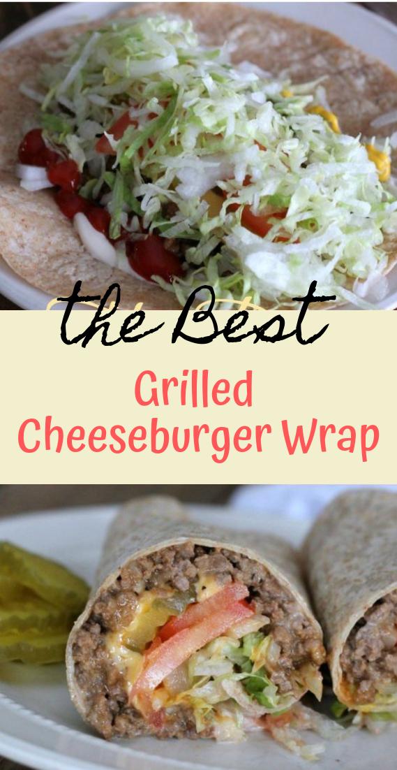 Grilled Cheeseburger Wrap #healthyfood #dietketo