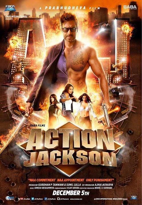 Action Jackson 2014 Hindi DVDRip 480p ESub – 400MB