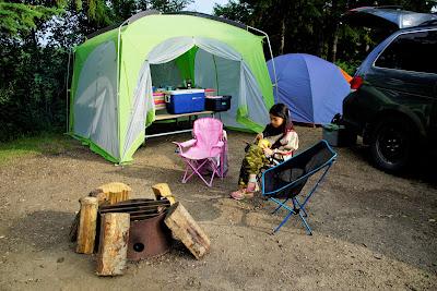 Astotin Lake campsite, Elk Island National Park