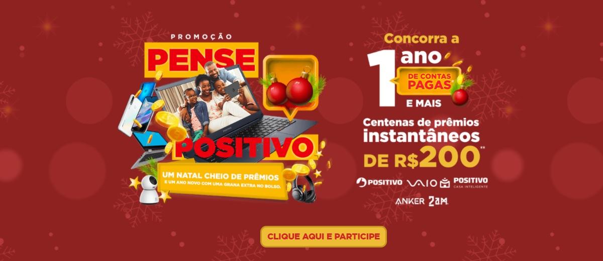Promoção Pense Positivo Natal e Final de Ano 2020 1 Ano Contas Pagas e Prêmios na Hora