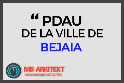 PDAU DE LA VILLE DE BEJAIA