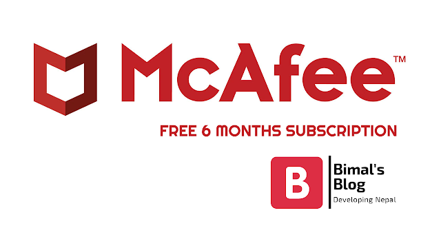 McAfee Antivirus free for 6 months with download link