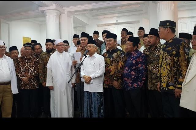 Ma'ruf Amin Kumpulkan Ormas Islam, FPI Tak Diundang